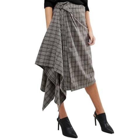 Bolongaro Trevor Grey Check Antwerp Skirt