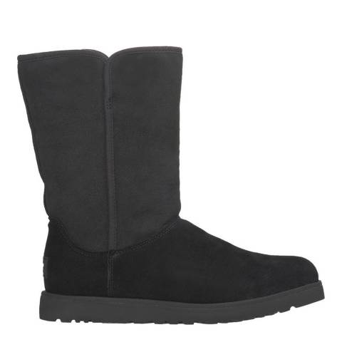 UGG Black Sheepskin & Suede Michelle Boots