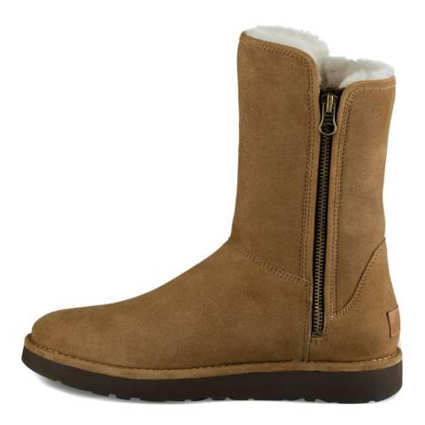 UGG Brown Sheepskin Abree Short II Classic Boots