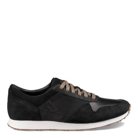 UGG Black Suede & Full Grain Leather Trigo Sneakers