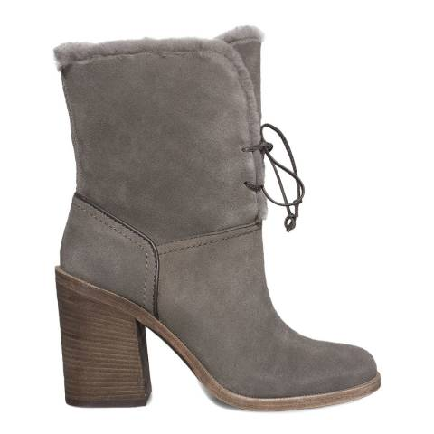 UGG Grey Suede Jerene Lace Up Boots