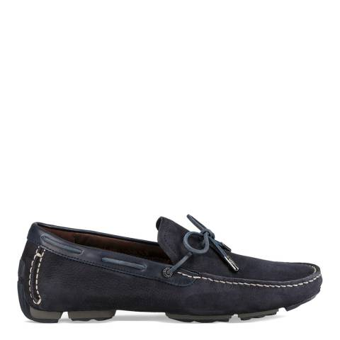 UGG Navy Nubuck Leather Bel-Air Driving Shoes