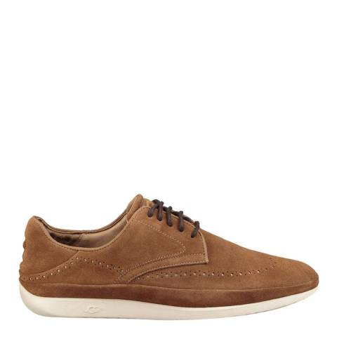 UGG Chestnut Suede Cali Wing-Toe Derby Shoes