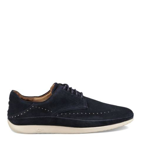 UGG Navy Suede Cali Wing-Toe Derby Shoes