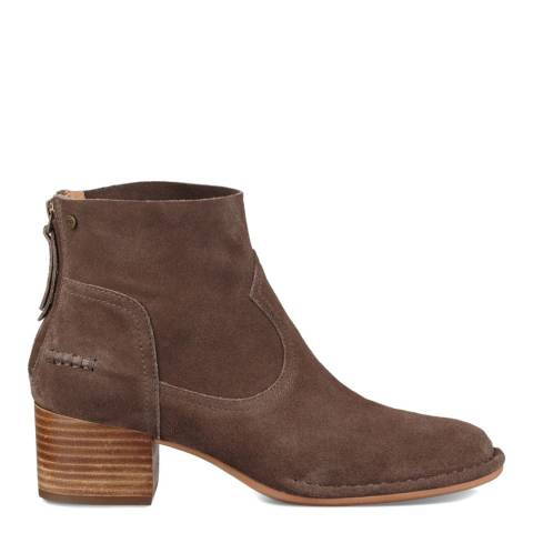 UGG Taupe Suede Bandara Ankle Boots
