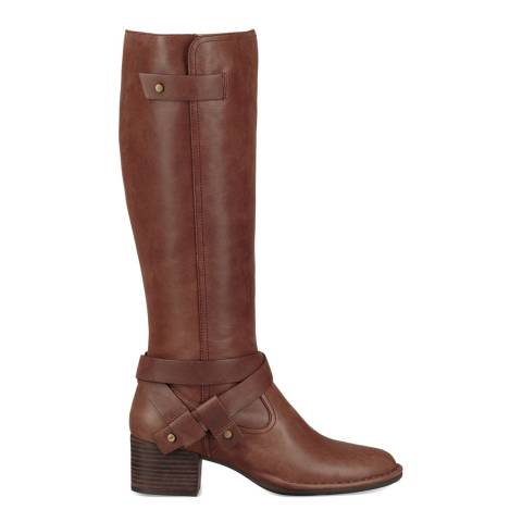 UGG Coconut Shell Leather Bandara Tall Boots