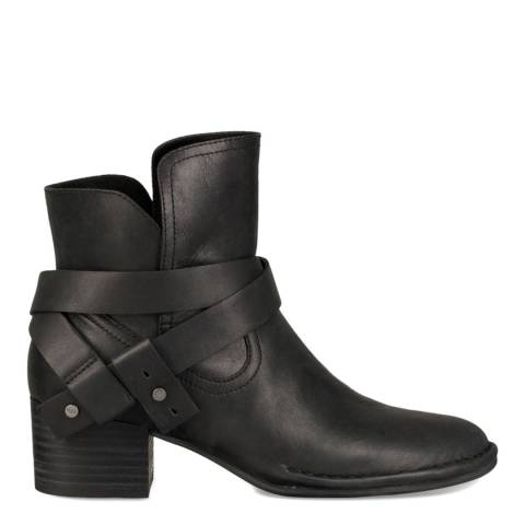 UGG Black Leather Elysian Ankle Boots