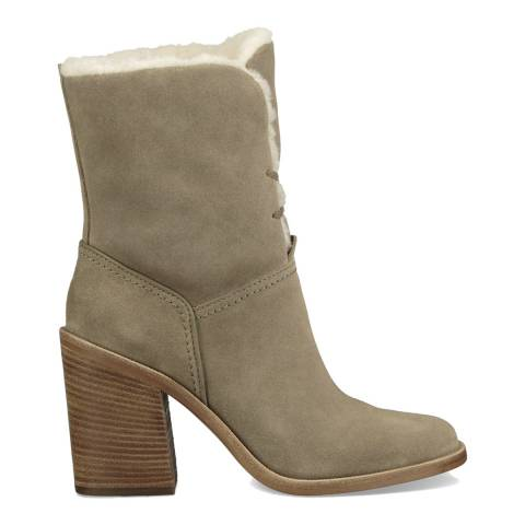 UGG Khaki Suede Jerene Lace Up Boots
