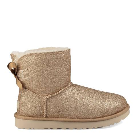 UGG Gold Sparkle Classic Mini Ankle Boots