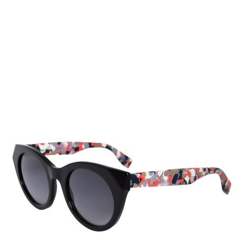 Fendi Women's Black/Light Smoke Chromia Fendi Sunglasses 48mm
