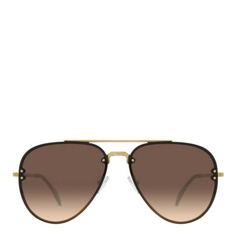 Celine Women's Gold/Green Shaded Celine Sunglasses 58mm