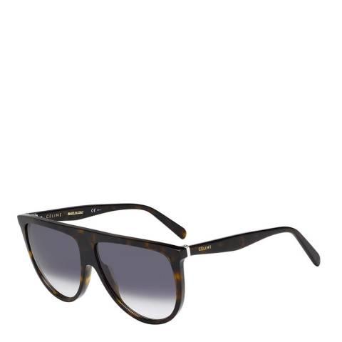 Celine Women's Dark Brown Thin Shadow Celine Sunglasses 61mm