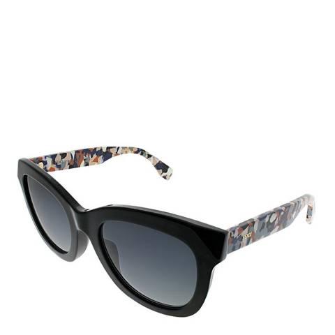 Fendi Women's Black / Multi Marble Effect Sunglasses 48mm
