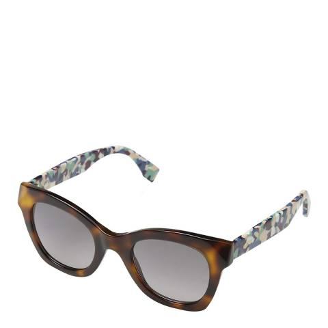 Fendi Women's Brown / Multi Marble Effect Sunglasses 48mm