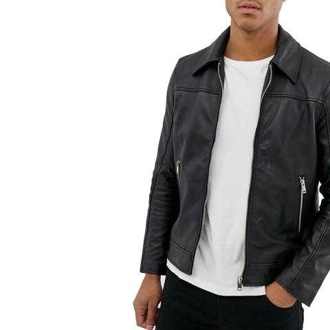 Bolongaro Trevor Black Artesia Leather Jacket