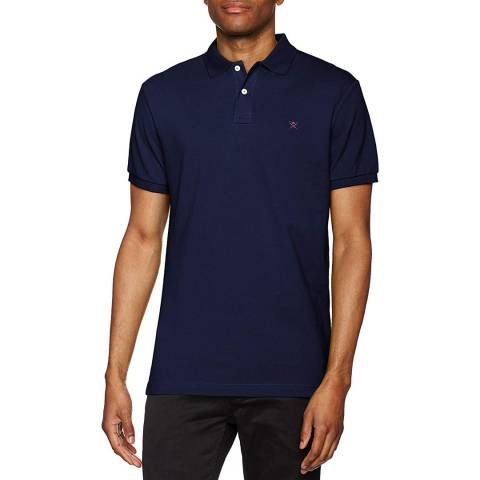 Hackett London Navy Classic Logo Polo Shirt