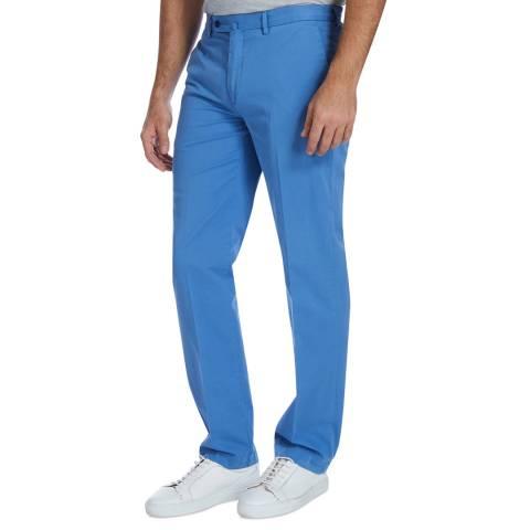 Hackett London Blue Sanderson Stretch Cotton Chinos