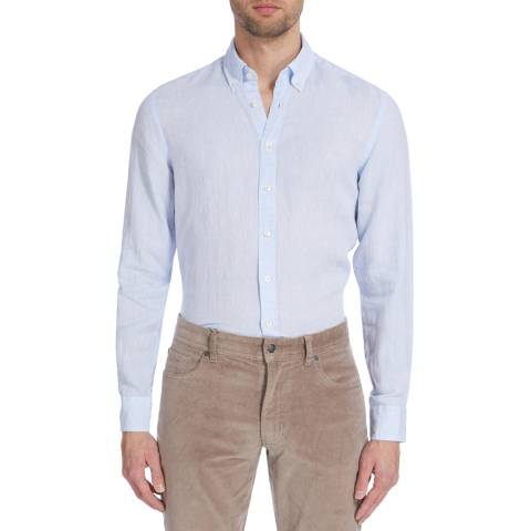 Hackett London Sky Slim Linen Shirt