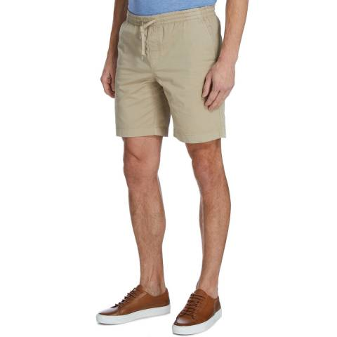 Hackett London Beige Drawstring Shorts