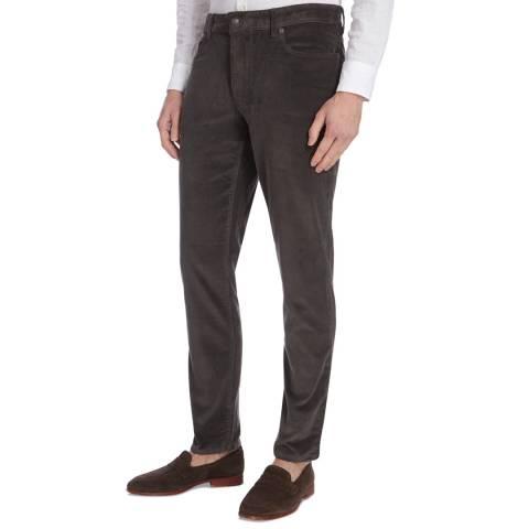 Hackett London Charcoal 5 Pocket Moleskin Trousers