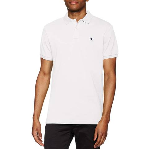 Hackett London White Classic Logo Polo Top