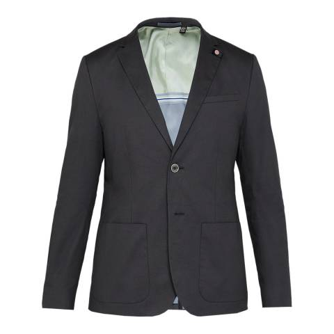 Ted Baker Charcoal Cliford Dyed Cotton Blazer