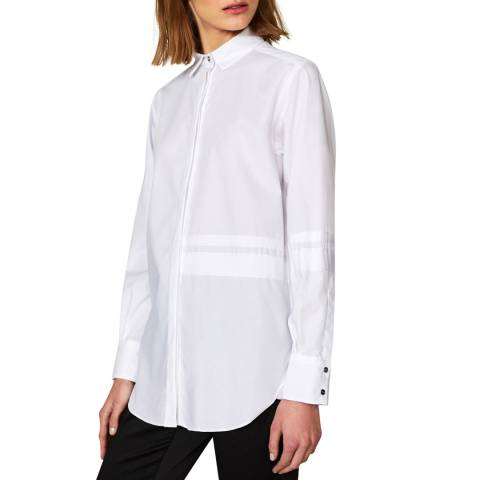 Outline White Queens Road Cotton Shirt