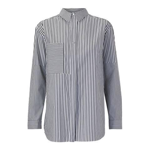 Outline Monochrome Curzon Stripe Shirt