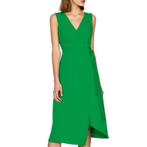 Outline Green Elbury Dress