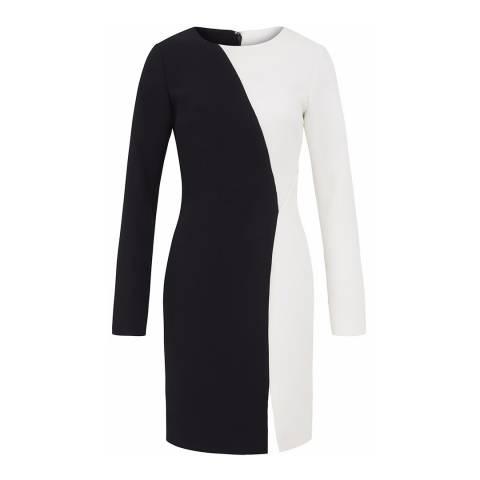 Outline Black/White Eton Dress