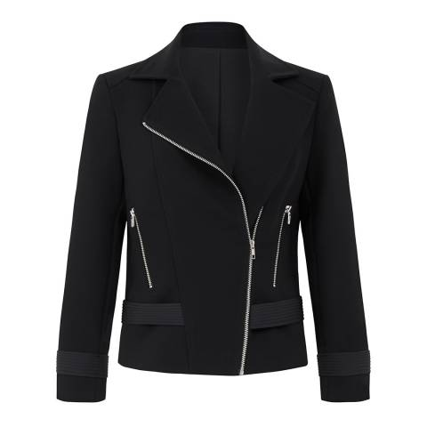 Outline Black Fleet Biker Jacket