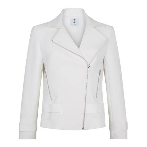 Outline Ivory Fleet Biker Jacket