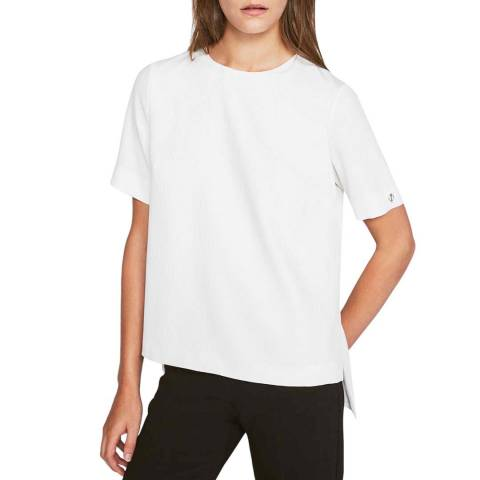 Outline Ivory Bow Top