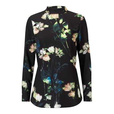 Outline Primrose Top  Floralblack
