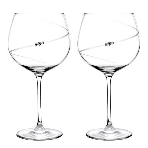 Portmeirion Set of 2 Auris Gin Glasses embelished with Swarovski Crystals