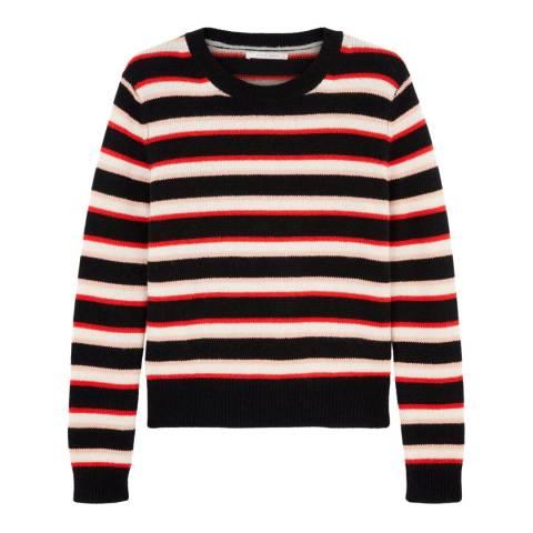 Chinti and Parker Black/Multi Jalisco Stripe Cashmere Jumper