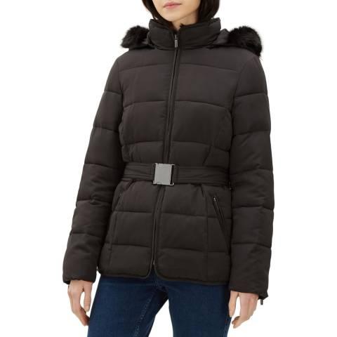 Jaeger Black Short Puffa Coat