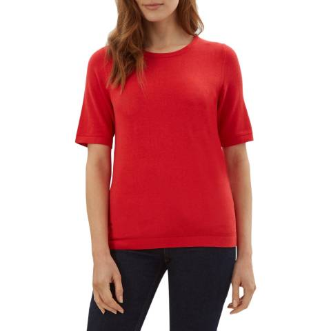 Jaeger Red Knitted T-Shirt