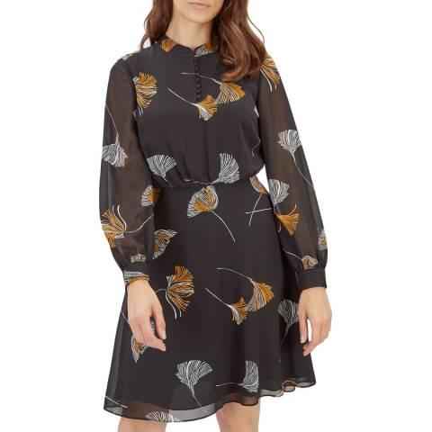 Jaeger Dark Floral Print Dress