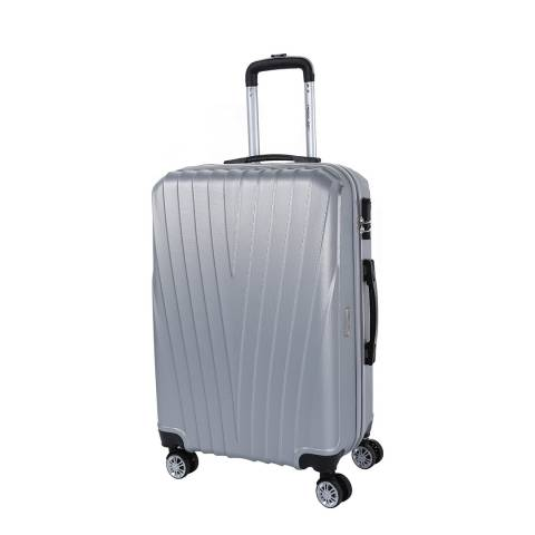 Travel One Silver 8 Wheel Elson Suitcase 66cm