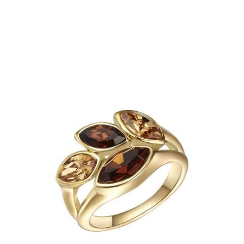 Saint Francis Crystals Gold Crystal Elements Swarovski Ring