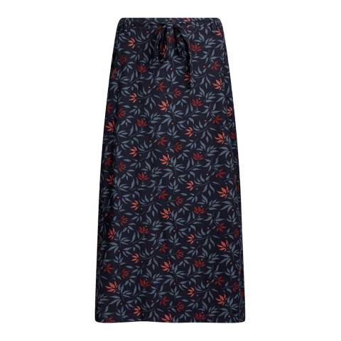 Seasalt Navy Inscription Skirt