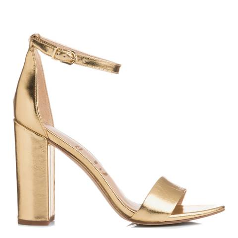 Sam Edelman Bright Gold Leather Yaro Heeled Sandals