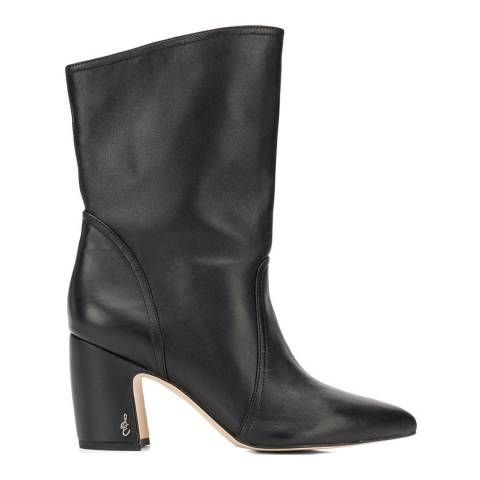 Sam Edelman Black Leather Hartley Mid Calf Boots