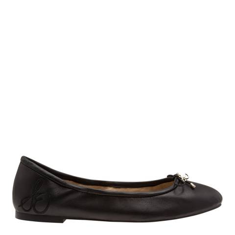 Sam Edelman Black Leather Felicia Classic Ballet Flats