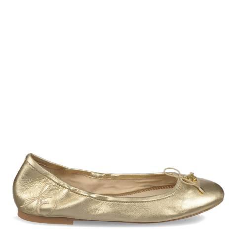 Sam Edelman Molten Gold Leather Felicia Soft Ballet Flats
