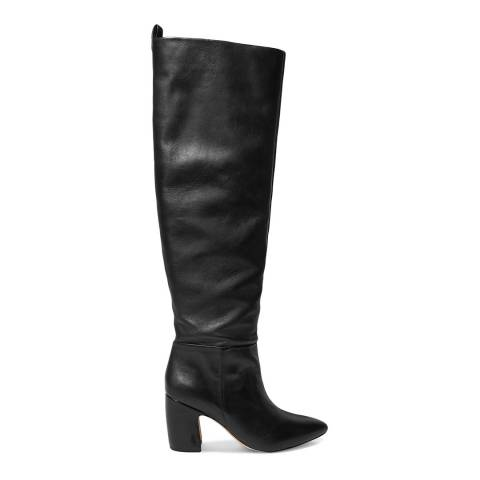 Sam Edelman Black Leather Hutton Knee High Boots