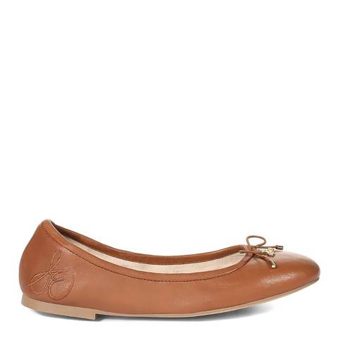 Sam Edelman Chocloate Brown Nappa Leather Felicia Ballet Flats