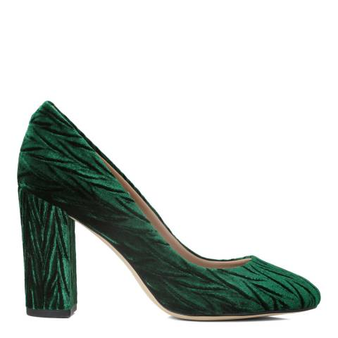 Sam Edelman Emerald Green Smoked Velvet Stillson Court Shoes
