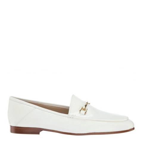Sam Edelman White Leather Loraine Loafers